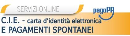 Carta Identità Elettronica e pagamenti spontanei
