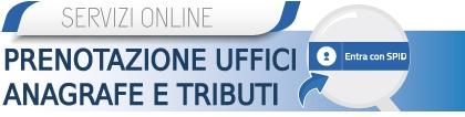 Prenotazioni uffici anagrafe e tributi