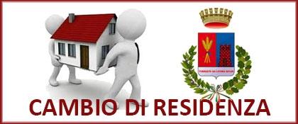 CAMBIO DI RESIDENZA