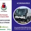 CORONAVIRUS, DA VENERDI' 13 MARZO SANIFICAZIONE DELLE STRADE