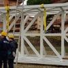 Iniziato l'assemblaggio del ponte sul Sanguinara