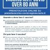 VACCINO ANTI-COVID ULTRAOTTANTENNI, LE PRENOTAZIONI DA LUNEDI' 1 FEBBRAIO