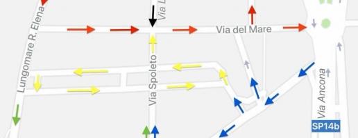Da mercoledì 5 settembre cambiano i  sensi di marcia in via del Mare, via del Lavatore e strade limitrofe