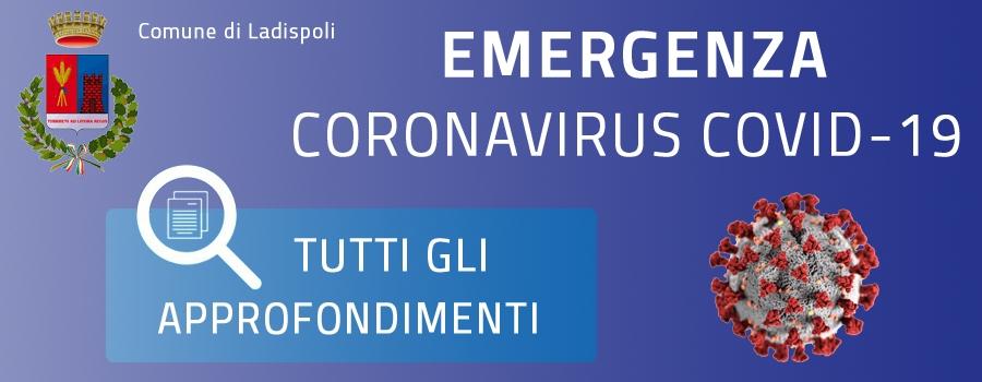 Informazioni e numeri utili emergenza Covid-19 Comune di Ladispoli